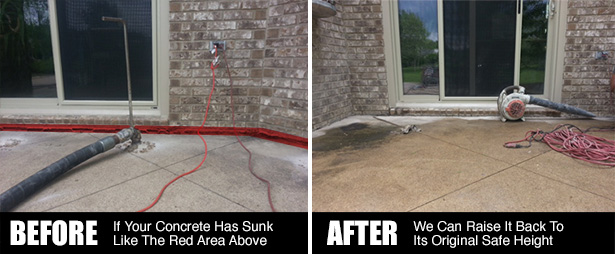 Concrete Leveling Before And After