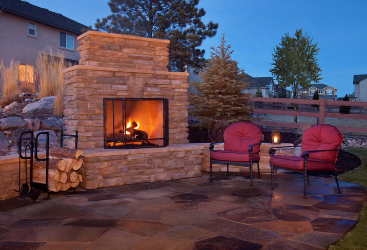 Keep your outdoor brick fireplace running as long as possible to beat Michigan